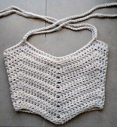 Crochet Crop Top Pattern Easy Crochet Tank Top Pattern by MYandGG