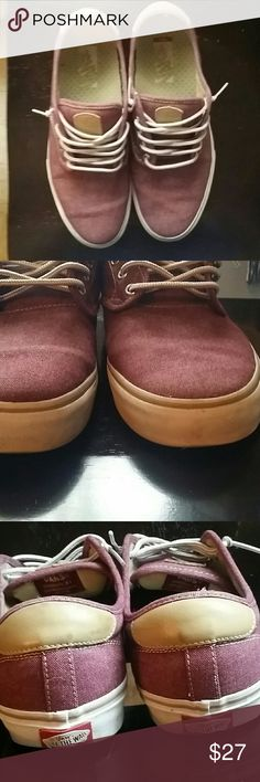 dd883d20efb59f Shop Men s Vans Red size 11 Sneakers at a discounted price at Poshmark.  Slight wear on front of rubber outsole.