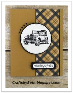 Crafts by Beth: Masculine Cards Delightful Dijon cardstock, Warmth Cheer Designer Series Paper, Guy Greetings Birthday Greetings For Dad, Birthday Cards For Men, Handmade Birthday Cards, Male Birthday, Fathers Day Cards Handmade, Birthday Images, Birthday Quotes, Birthday Wishes, Happy Birthday