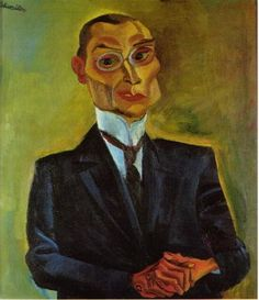 Portrait of Otto Ritsdil, 1920, by Conrad Felixmüller (German , 1897-1977)