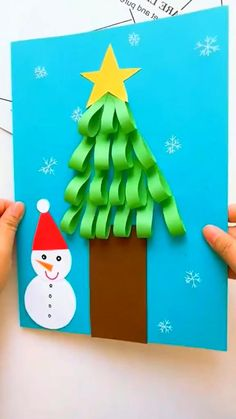 Preschool Christmas Crafts, Christmas Arts And Crafts, Winter Crafts For Kids, Paper Crafts For Kids, Craft Activities For Kids, Christmas Activities, Kids Christmas, Handmade Christmas, Holiday Crafts
