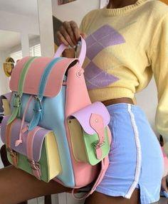 Kawaii Bags, Kawaii Clothes, Stylish Backpacks, Cute Backpacks, Korean Bags, Aesthetic Bags, Fashion Bags, Fashion Outfits, Kawaii Accessories