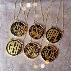 Tortoise Monogram Necklace - personalizedfrommetoyou