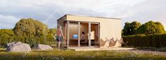 Garden office-studio 20 x 13 made of SIPS panels. Insulated and for sale UK Upvc Windows, Windows And Doors, Epdm Roofing, Sips Panels, Quick Garden, Planning Permission, Garden Studio, Site Visit, Roof Light