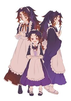 Haikyuu Anime, Anime Chibi, Kawaii Anime, Manga Anime, Fandom Crossover, Anime Crossover, Demon Art, Anime Demon, Butler Outfit
