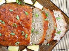 This unique Thai Turkey Meatloaf is flavored with ginger and garlic and smothered with a sweet and spicy Sriracha glaze.