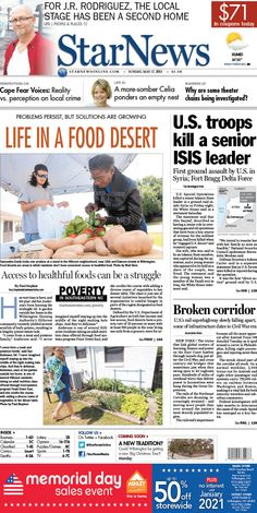 Front page for Sunday, May 17, 2015