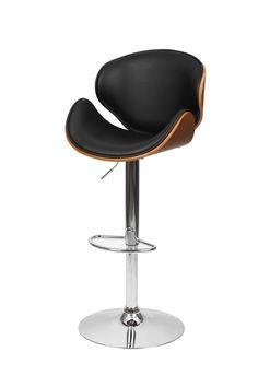Barstool Chair Walnut Bentwood Faux PU Leather Swivel Barstools Breakfast Stool | eBay Breakfast Stools, Kitchen Ornaments, Barber Chair, Villas, Bar Stools, Pu Leather, Thoughts, Ebay, Bar Stool Sports