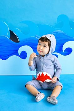 a793c0ead4a40 Kids Baby Boys Girls Shark Rash Guard Swimsuit Sun Protection OnePiece  Swimwear23Years SGrey   You can get additional details at the image link.