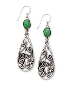 Lucky Brand Earrings, Silver Tone Openwork Bead Drop Earrings - Fashion Jewelry - Jewelry & Watches - Macy's