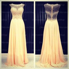 see through prom dresses, champagne prom dress, chiffon prom dress, dresses for prom, 2015 prom dress, 16220 · OkBridal · Online Store Powered by Storenvy