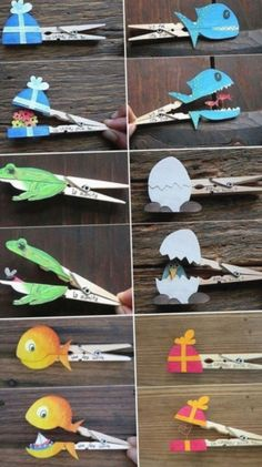 clothes pegs with surprise same . - Nice clothes pegs with surprise same … – -Beautiful clothes pegs with surprise same . - Nice clothes pegs with surprise same … – - Kids Crafts, Summer Crafts For Kids, Owl Crafts, Preschool Crafts, Diy For Kids, Paper Crafts, Zoo Animal Crafts, Manualidades Halloween, Halloween Crafts For Kids