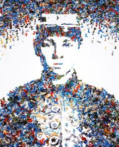 "Great art portrait: ""Toy soldier"" by Vik Muniz. Made out of toy soldiers."