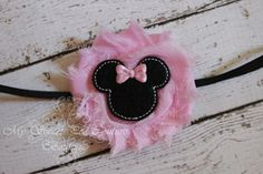 Pink  Mouse Headband Halloween Headband Baby by MySweetPeaCouture, $6.95