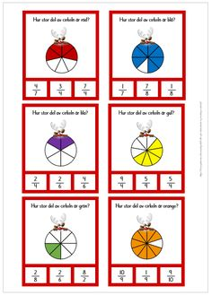 Nypkort med bråk Montessori Math, Teaching Schools, Task Boxes, Arithmetic, Baby Games, Math Lessons, Pre School, Math Activities, Diy And Crafts
