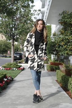 #fashion #style #blog #Blogger #giveaway #coat #houndsooth @TheMintJulep #nike #chanel #scarf #ootd #mintjulep #christmas #gift #Blogmas