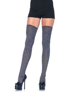 Sheer Black with rhinestone studded back seam and mini white bow at heel accent. Sizes: One Size 34 inches long from toe to cuff Cotton. Polyester, Nylon, Spandex Black and white heather rib knit thigh high socks Knit Stockings, Stocking Tights, Sexy Stockings, Thigh High Socks, Thigh Highs, Knee Highs, Knee Socks, Snowboard, Nylons