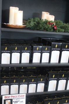 Luminara Candles; indoors and out; your headquarters for all Luminara products.  The Barn Nursery, Chattanooga!