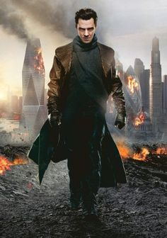 Benedict Cumberbatch as Khan in the Sci-Fi movie called Star Trek: Into The Darkness.