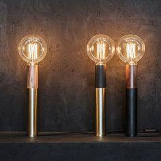 Focused Lighting Design by Edizioni Design. Alumium, steel and wood make for a perfectly designed table lamp | MONOQI #bestofdesign