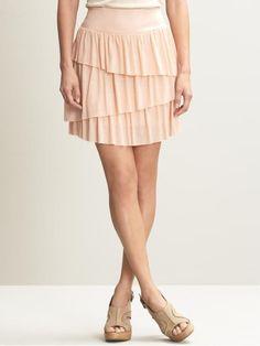 DYI: asymmetric ruffle skirt.  Tutorial.
