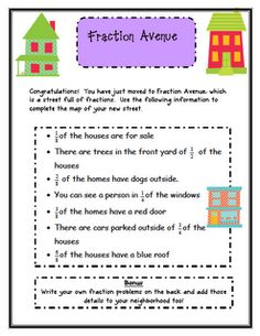 Classroom Freebies: Fraction Avenue - this blog has a link for Fraction Avenue.