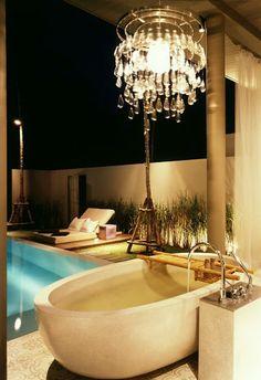 Stone baths at the SALA Phuket Resort  Spa