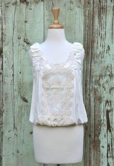 Sweet Crochet Top, $62 by Susan  happy