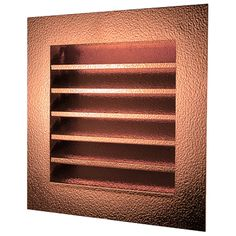 Louvered Gable End Vents are made of 16 ounce copper or stainless steel.  There are many standard sizes and mounting styles available.  Louvers are fixed and the vent is screened to keep insects and animals out.  Both copper and stainless steel look great and last much longer than standard aluminum and plastic vents.