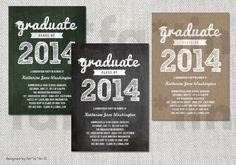 Graduate Scribbles PRINTABLE Grad Party Invitation | Custom Modern Trendy Sketched Graduation Invite Photo Announcement | PRINTED or DIGITAL by fatfatin