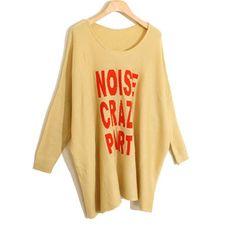 39,90EUR Party Pullover khaki mit Schrift