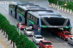 Pregopontocom Tudo: China desenvolve projeto de veiculo sobre trilhos que trafega sobre os carros...
