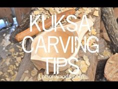 Kuksa carving tips - Carving the outside of a Kuksa with Lotsofwoods.com - YouTube
