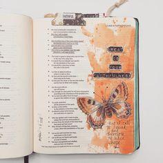 bible journaling with butterflies! Bible Study Journal, Journal Pages, Art Journaling, Prayer Journals, Journal Art, Scripture Journal, Bullet Journal, Scripture Art, Bible Art