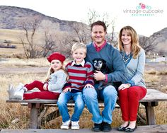 We were thinking Dark red(burgundy-ish) and navu blue for fall pictures...this just made up my mind!!!  LOVE!  What to Wear Fall Family Photos Denver Denver, Colorado Family Photographer - The Vintage Cupcake Photography