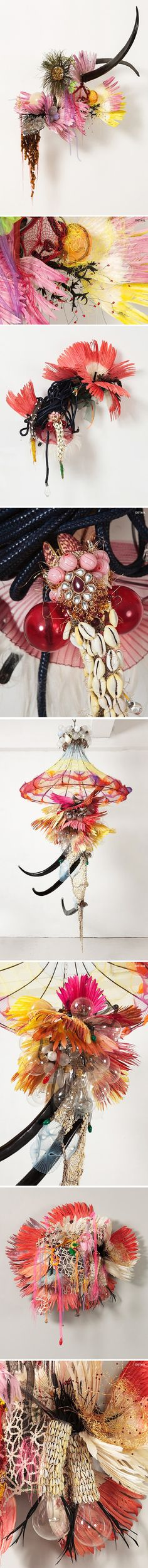 sculptures (made with found things!) by rina banerjee