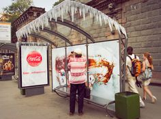 Memorable Outdoor Advertising: Frozen Bus Stop - My Modern Metropolis