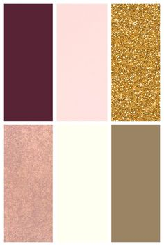 Actual Wedding Color Palette Marsala Blush Rose Gold