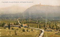 Tuscan Mist - Watercolor by Joseph Zbukvic