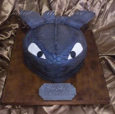 Toothless How to train your Dragon  Cake by bakedwithloveonline