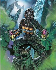 Batman & The Dark Knights of Gotham Scarecrow Tattoo, Scarecrow Batman, Scarecrow Cosplay, Gotham Villains, Comic Villains, Bob Kane, Comic Books Art, Comic Art, Arte Dc Comics