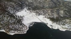 Fawnskin, Big Bear, Ca. From high above up in a Helicopter on New Years Day, 2015.