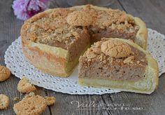 TORTA RICOTTA E AMARETTI ricetta facile, golosa e cremosa, una torta ripiena morbida e profumata adatta a colazione e merenda