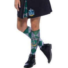6078172860c The Wizarding World Of Harry Potter Slytherin Halloween Costume Socks   Harry