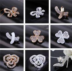 Embellishment Korean version rhinestone scarf buckle//Stylish Lady brooch//corsage//shoulder-buckle//silk scarf clip-B