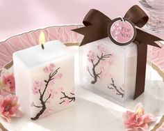 cool  japanese cherry blossom candles