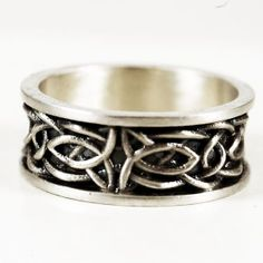 Wide Celtic Wedding Ring in Size 10.25 With Raised by Spoonier, $60.00