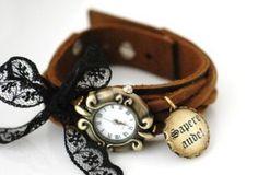 Кожаный браслет для часов своими руками
