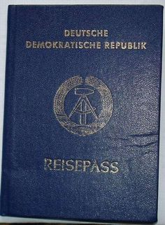 East Germany passport. As rare as hen's teeth.