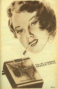 Iba Mendes  Anúncios antigos de cigarros  a participação da mulher 38bc12c99f3